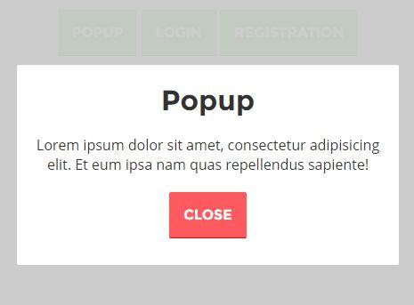 Easy Responsive Modal Popup jQuery Plugin - TopModal