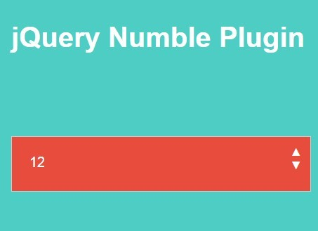 Easy Stylable jQuery Number Input Spinner Plugin - Numble
