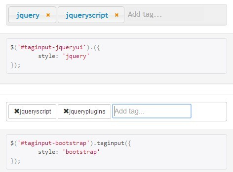 Easy Stylable jQuery Tags Input Plugin - Tag Input