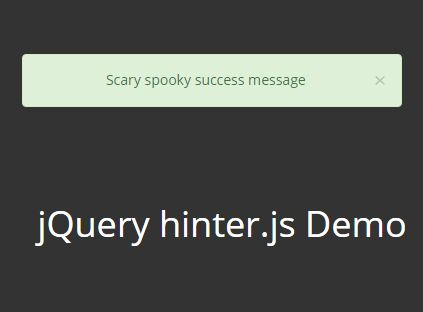 Easy Toast Notification Plugin With jQuery And Bootstrap - hinter.js