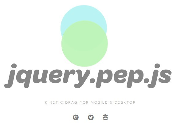 Easy and Touch-enabled jQuery Draggable Obeject Plugin - pep.js