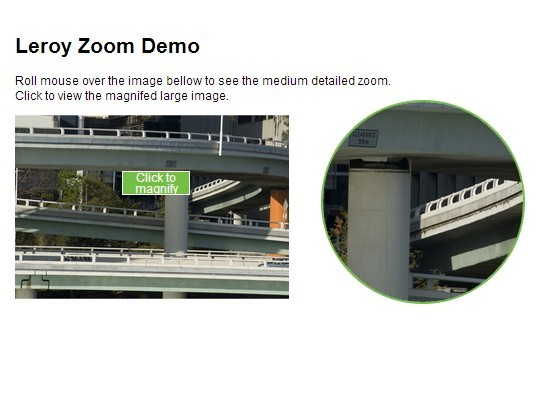 Easy jQuery Image Zoom and Magnifier Plugin - Leroy Zoom