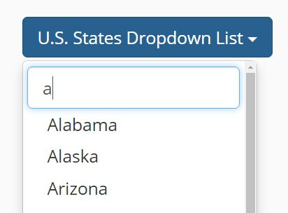 Easy jQuery Input Filter For Bootstrap Dropdown List | Free jQuery ...