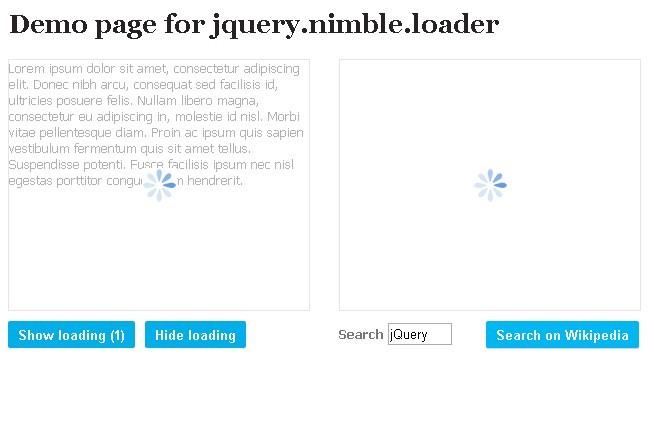 Easy jQuery Loading Bar Generator - Nimble Loader