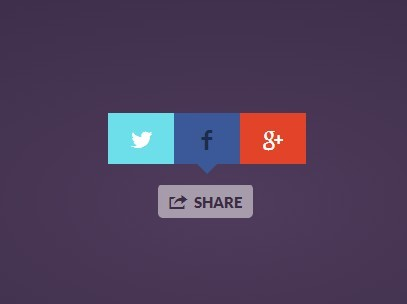 Easy jQuery Plugin For Popup Social Buttons - Share Button