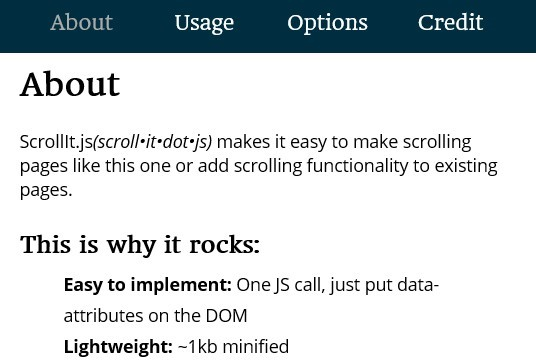 Easy jQuery Plugin For Scrolling Web Page - ScrollIt.js