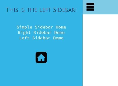Easy jQuery Responsive Sliding Sidebar Plugin - Simple SideBar