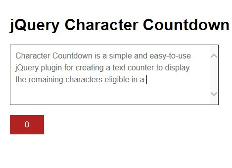 Easy jQuery Textarea Characters Countdown Plugin - Character Countdown