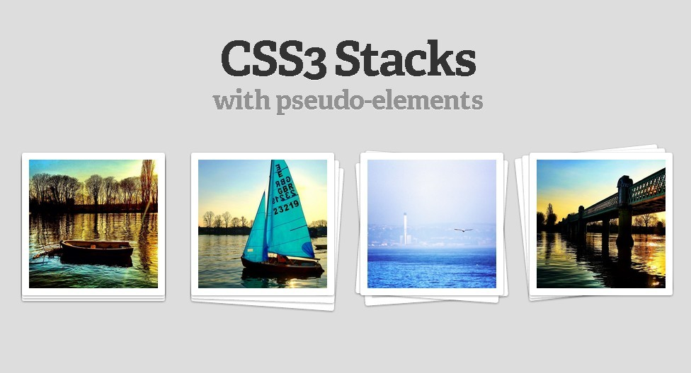 Elements Stack Effect with Pure CSS3