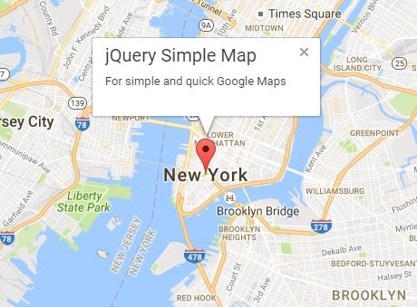 embed custom google maps made easy with jquery simple maps