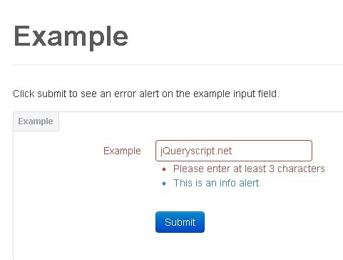 Event Based Bootstrap Form Validation Pluin with jQuery - formalerts ...