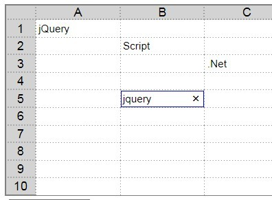 Excel-Like jQuery Data Table Plugin - xTab