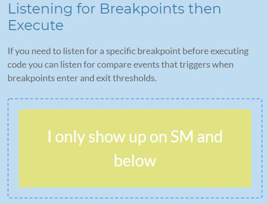 Execute Functions Within Certain Breakpoints - jQuery
