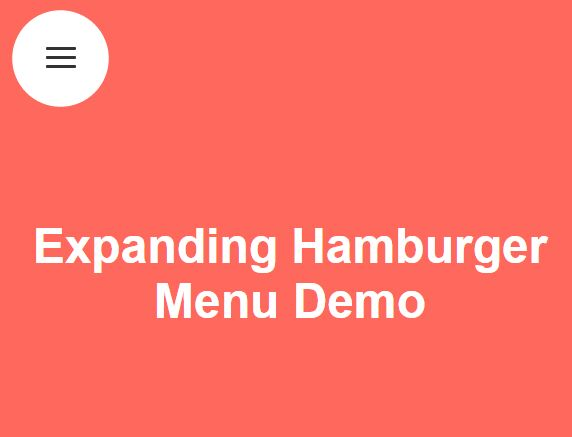 Expanding Fullscreen Hamburger Menu With jQuery And CSS3