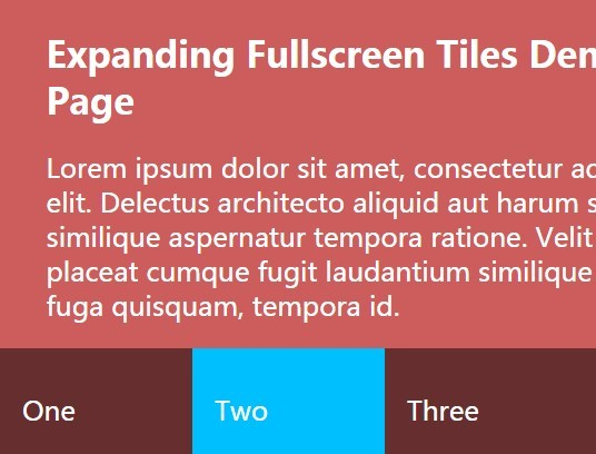 Expanding Fullscreen Tiles with jQuery and CSS3