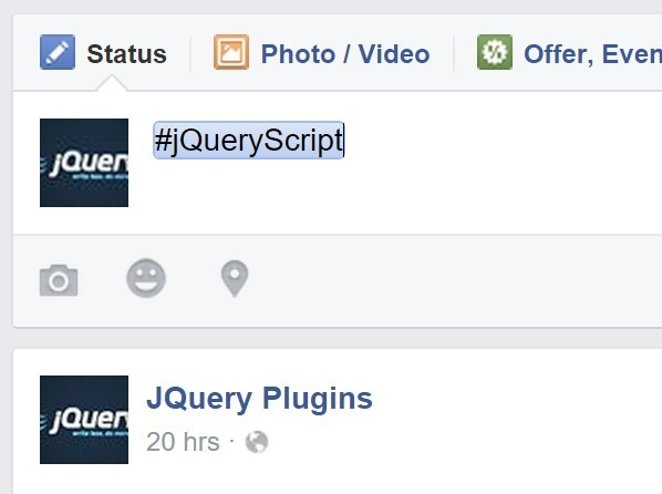Facebook Like Hashtag Highlighting Plugin with jQuery - hashtags.js