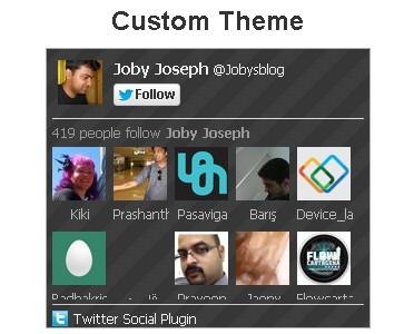 Facebook-like Twitter Follower Box