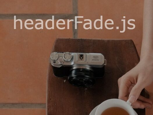 Fade Out Hero Header On Scroll - jQuery headerFade.js