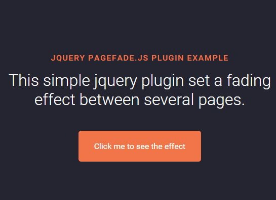 Fading Between Several Web Pages With jQuery - pagefade.js