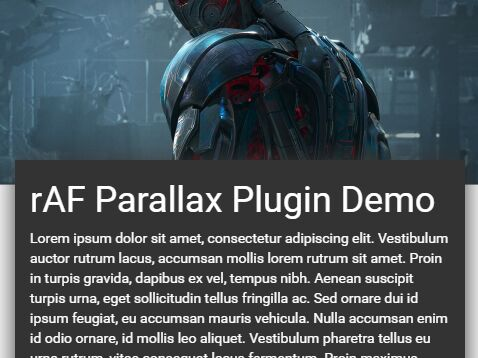 Fast Parallax Scrolling Effect With jQuery And CSS3 - ParallaxJS