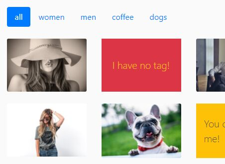 Filterable Bootstrap 4 Gallery With Lightbox Integrated