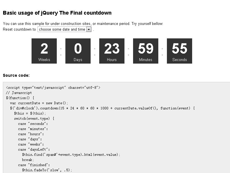Final Countdown - Simple Date Countdown Plugin | Free jQuery Plugins