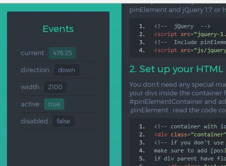 jQuery Plugin To Fix Element Within Its Container - pinElement