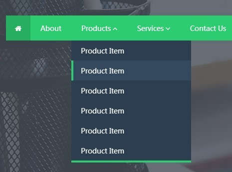 Flat Animated Dropdown Menu with jQuery and Animate.css