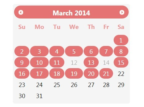 Flat Date Range Picker Plugin with jQuery and jQuery UI