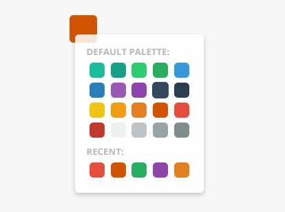Flat HTML5 Palette Color Picker For jQuery - colorPick.js