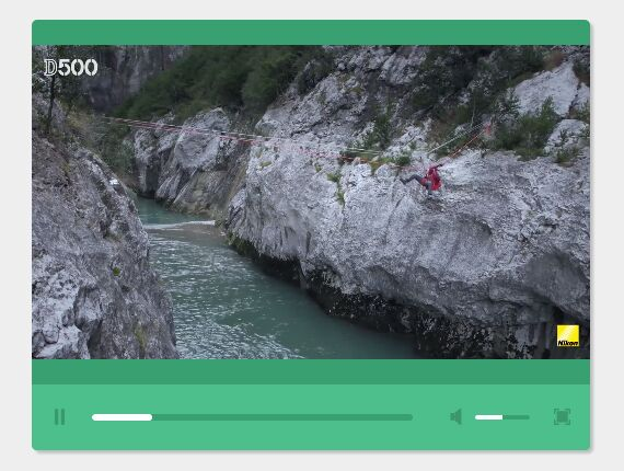 Flat Responsive HTML5 Video Player With jQuery And CSS3