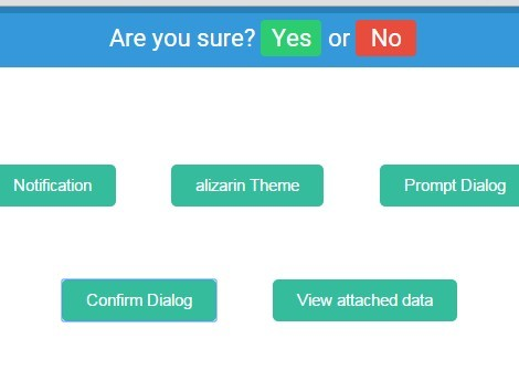 Flat Sliding Top Notification Plugin For jQuery - overHang.js