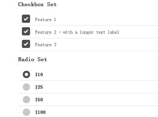 Flat jQuery Checkbox & Radio Button Replacement - checkboxradio