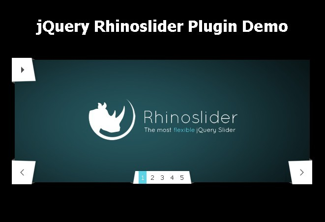 Flexible jQuery Content Slider with Cool Transitions - Rhinoslider