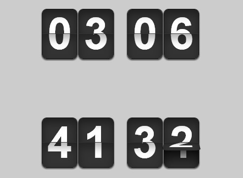 Flip Clock-Style jQuery Countdown & Count Up Timer Plugin - flipTimer