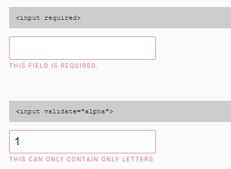 Minimal Form Field Validation Plugin For jQuery - Validin