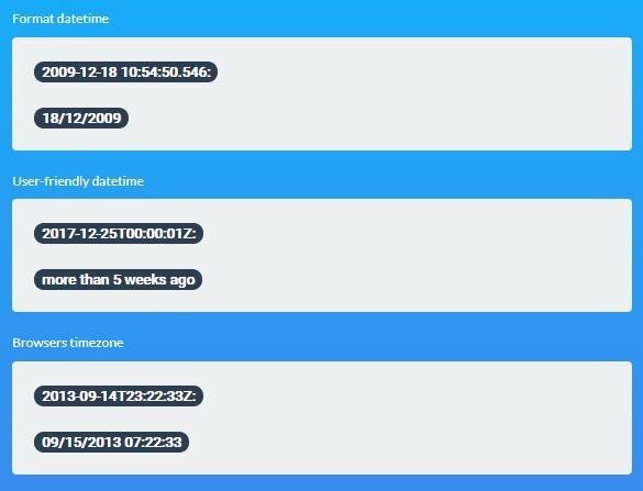 Format/Prettify/Convert Datetime - dateFormat