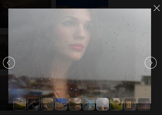 Full Window Modal-style Photo Gallery Plugin with jQuery - picEyes