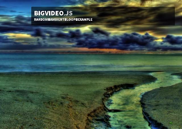 Fullscreen Background Video Plugin For jQuery - BigVideo