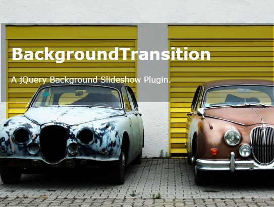 Fullscreen Crossfading Background Slideshow with jQuery - BackgroundTransition