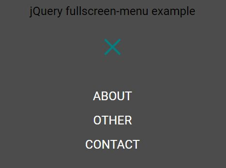 Fullscreen Hamburger Toggle Menu With jQuery And CSS3