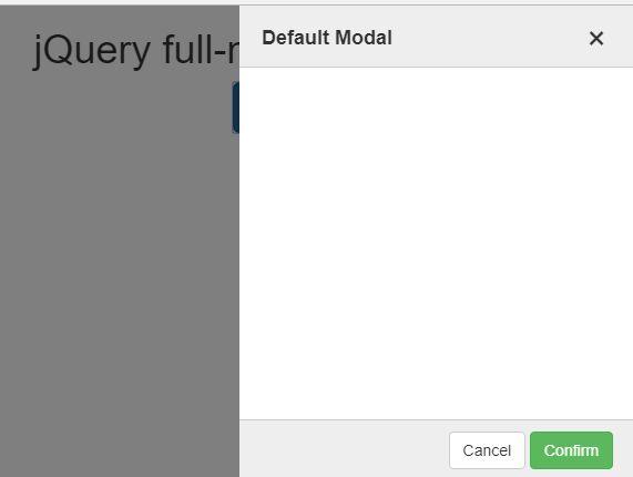 Sliding Fullscreen Modal Plugin For jQuery - full-modal