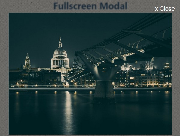 Fullscreen Modal Using jQuery and CSS3 Transitions / Transforms