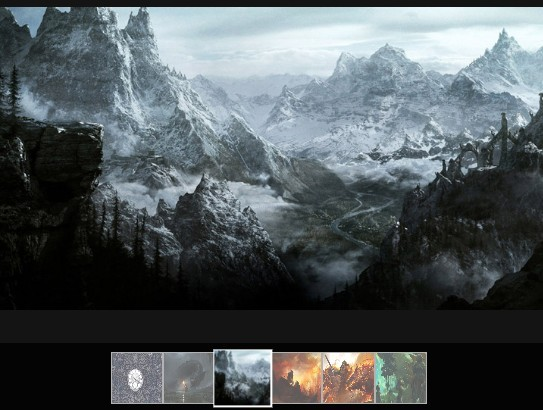 Fullscreen Photo Gallery with Thumbnail Navigation - ma5-gallery
