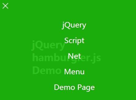 Fullscreen Responsive Menu with jQuery and CSS3 - hamburgler.js