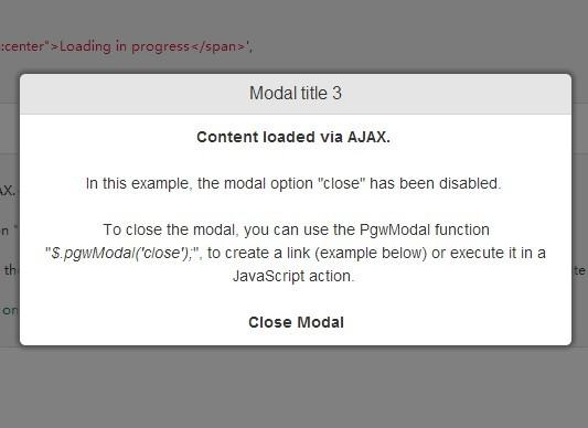 Fully Responsive & Customizable jQuery Modal Plugin - PgwModal