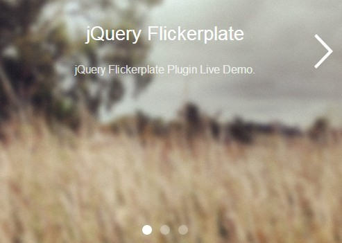 Fully Responsive & Touch-enabled jQuery Carousel Plugin - Flickerplate