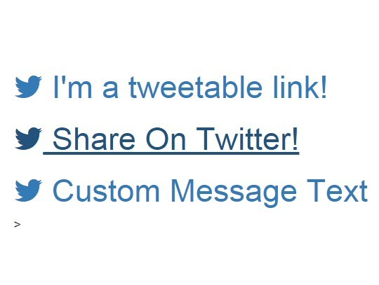Generating Custom Twitter Share Links with jQuery - Tweetable