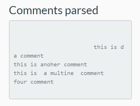 Get Text Inside HTML Comment Tag - jQuery Comments.js