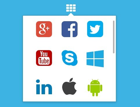 Google App Launcher Style Dropdown Plugin with jQuery and CSS3